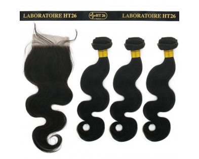 Closure 12'' + 3 Tissages 14'' Body Wave
