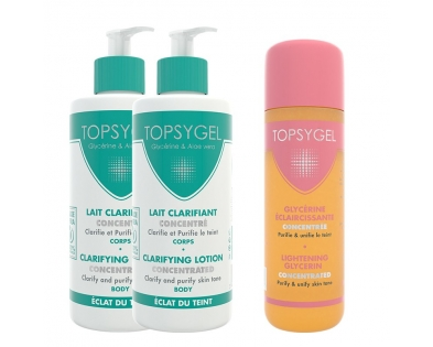 Promo - 2 Clarifying body lotion concentrated + 1 Lightnening Glycerin TOPSYGEL