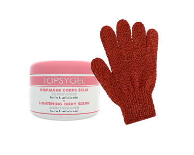 Promo - Lightening body scrub + 2 soft scrub gloves free